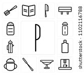 set of 13 icons such as knife ... | Shutterstock .eps vector #1102116788