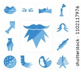 set of 13 icons such as men... | Shutterstock .eps vector #1102117976