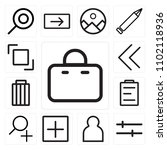 set of 13 icons such as bag ...