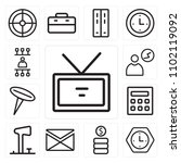 set of 13 icons such as id card ...