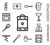 set of 13 icons such as coffee...