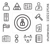 set of 13 icons such as man ...