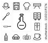 set of 13 icons such as olive...