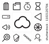set of 13 icons such as cloud ...
