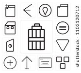 set of 13 icons such as garbage ...