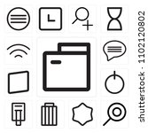 set of 13 icons such as folder  ... | Shutterstock .eps vector #1102120802