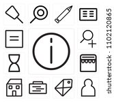 set of 13 icons such as info ...