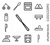 set of 13 icons such as peeler  ... | Shutterstock .eps vector #1102122092