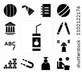set of 13 icons such as lunch ...