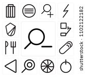 set of 13 icons such as zoom...