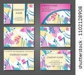 minimal vector covers set.... | Shutterstock .eps vector #1102128908