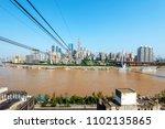 view from cableway over yangtze ... | Shutterstock . vector #1102135865