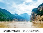 majestic qutang gorge and... | Shutterstock . vector #1102135928