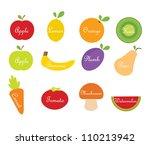 vector fruit and vegetables | Shutterstock .eps vector #110213942