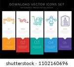 5 vector icons such as dead end ... | Shutterstock .eps vector #1102160696