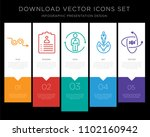 5 vector icons such as avoid ... | Shutterstock .eps vector #1102160942