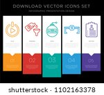 5 vector icons such as get... | Shutterstock .eps vector #1102163378