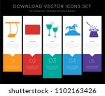 5 vector icons such as trapeze  ... | Shutterstock .eps vector #1102163426
