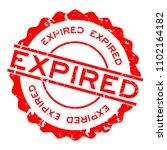grunge red expired word round... | Shutterstock .eps vector #1102164182