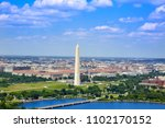washington dc aerial view with... | Shutterstock . vector #1102170152