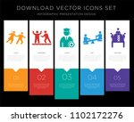 5 vector icons such as couple... | Shutterstock .eps vector #1102172276