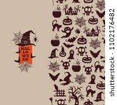 halloween background design... | Shutterstock . vector #1102176482