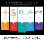 5 vector icons such as... | Shutterstock .eps vector #1102176782