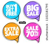 set sale speech bubble banners  ... | Shutterstock .eps vector #1102181795
