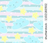 seamless sun and stars pattern... | Shutterstock .eps vector #1102183502