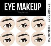 make up tutorial set   stages... | Shutterstock .eps vector #1102185326