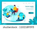 vector concept illustration   ... | Shutterstock .eps vector #1102189595