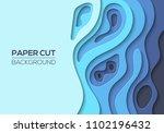 modern paper cut art design... | Shutterstock .eps vector #1102196432