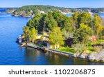 rural swedish landscape ... | Shutterstock . vector #1102206875