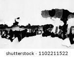 old white paper poster ripped... | Shutterstock . vector #1102211522