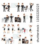different business peoples male ... | Shutterstock . vector #1102220225