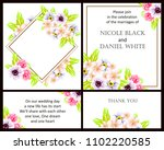 romantic invitation. wedding ... | Shutterstock . vector #1102220585