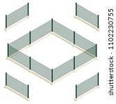 isometric vector dark green... | Shutterstock .eps vector #1102230755