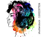 african american beautiful... | Shutterstock . vector #1102237526