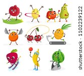 sport and fruits  illustrations ... | Shutterstock .eps vector #1102239122