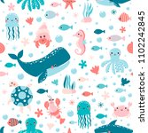 vector seamless pattern with... | Shutterstock .eps vector #1102242845