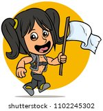 cartoon cute white jumping... | Shutterstock .eps vector #1102245302