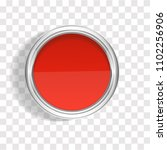 realistic 3d tin of red paint... | Shutterstock .eps vector #1102256906