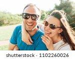 close up funny beauty portrait... | Shutterstock . vector #1102260026