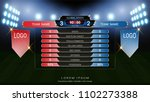 soccer football scoreboard team ... | Shutterstock .eps vector #1102273388