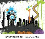 vector illustration of a grungy ... | Shutterstock .eps vector #11022751