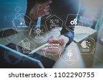 machine learning technology... | Shutterstock . vector #1102290755