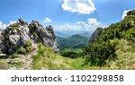 the rocks in rozsutec hill in... | Shutterstock . vector #1102298858