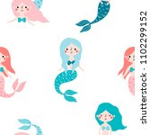seamless childish pattern with... | Shutterstock .eps vector #1102299152