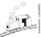 steam locomotive coloring book  ... | Shutterstock .eps vector #110230052