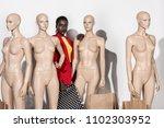attractive stylish african...   Shutterstock . vector #1102303952